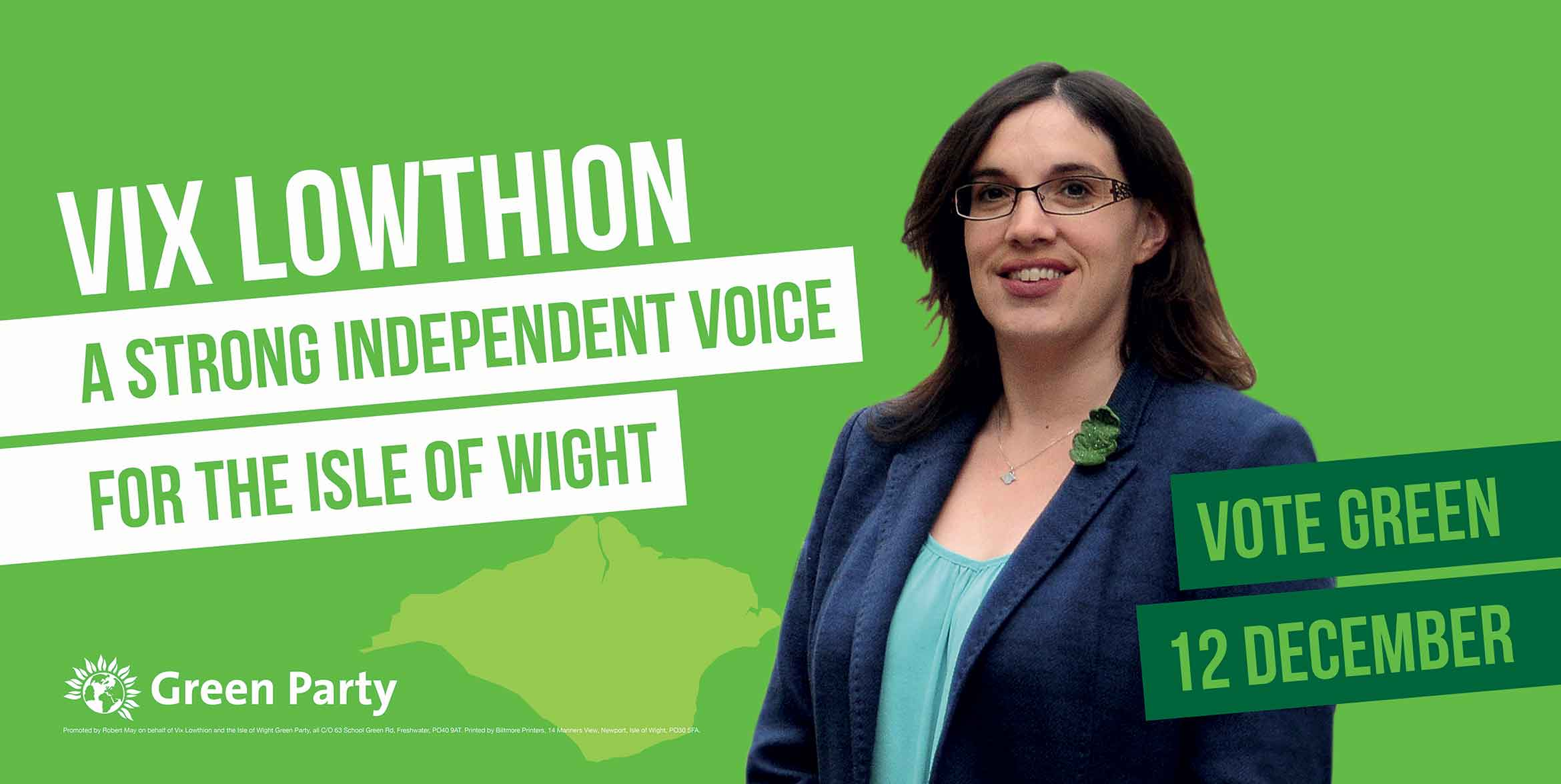 Vix Lowthion – A strong independent voice for the Isle of Wight – Vote Green, 12 December