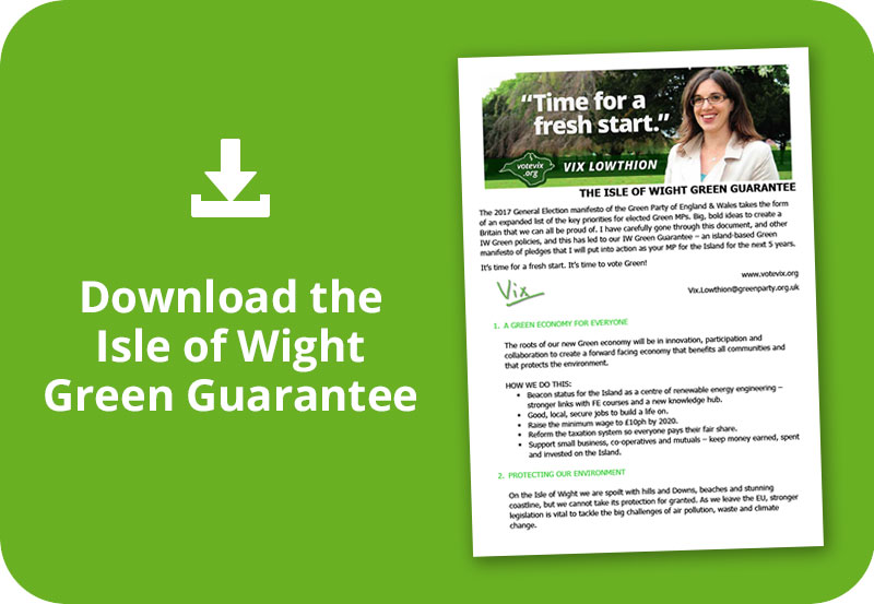 Download the Isle of Wight Green Guarantee